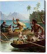 Race To The Market Tahiti Canvas Print