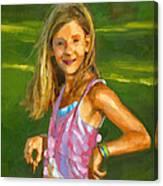 Rachel With Cookie Canvas Print