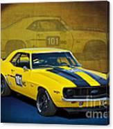 Racing Camaro Canvas Print