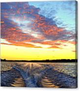 Racing Home Before The Sun Sets Canvas Print