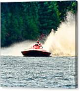Racing Speed Boat Canvas Print