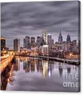 Racing To The City Lights - Philly Canvas Print