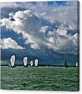 Racing Yachts In The Solent Canvas Print
