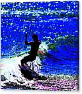 Rad Skimboarder Canvas Print