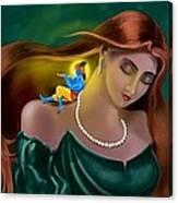 Radha Krishna Fusion  Canvas Print