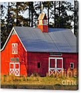 Radiant Red Barn Canvas Print