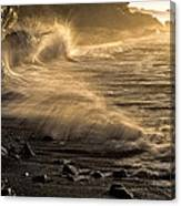 Radiant Sunrise Surf Canvas Print