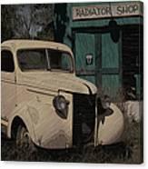 Radiator Shop Canvas Print