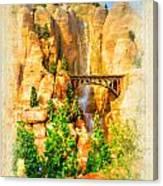 Radiator Springs Waterfall Canvas Print