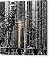 Radio City At Christmas - Black And White Canvas Print