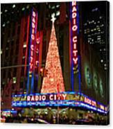 Radio City At Christmas Time - Holiday And Christmas Card Canvas Print