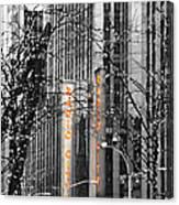 Radio City Music Hall Lights Canvas Print