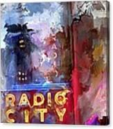 Radio City New York Canvas Print