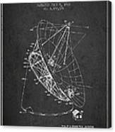 Radio Telescope Patent From 1968 - Charcoal Canvas Print