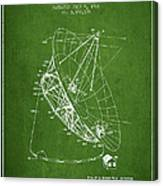 Radio Telescope Patent From 1968 - Green Canvas Print