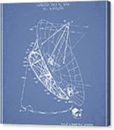 Radio Telescope Patent From 1968 - Light Blue Canvas Print