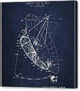 Radio Telescope Patent From 1968 - Navy Blue Canvas Print