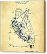Radio Telescope Patent From 1968 - Vintage Canvas Print