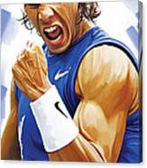 Rafael Nadal Artwork Canvas Print