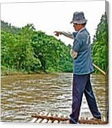 Rafting Guide On Mae Thang River Near Chiang Mai-thailand Canvas Print