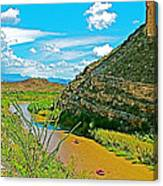 Rafting In Santa Elena Canyon In Big Bend National Park-texas Canvas Print