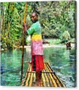 Rafting The Martha Brae Canvas Print