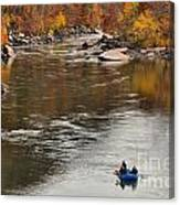 Rafting The New River Canvas Print