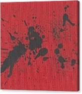 Rage Drip Art Canvas Print
