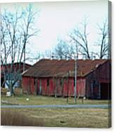 Ragged Red Shed I Canvas Print