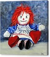 Raggedy Ann With Hearts Canvas Print