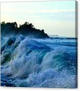 Raging Surf Canvas Print