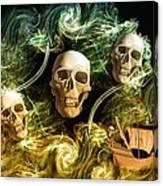 Raging Wars Of Pirates Past Canvas Print