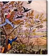 Raiding The Rook's Nest Canvas Print