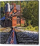 Rail Reflection At The Train Station Canvas Print