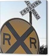 Rail Road Crossing Canvas Print
