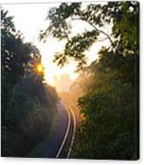 Rail Road Sunrise Canvas Print