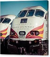 Rail Runner Twins Canvas Print