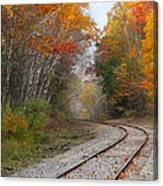 Rail Through The Colors Canvas Print