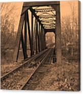 Railbridge Canvas Print