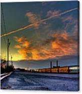 Railroad At Dawn Canvas Print