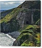 Railroad Through Bray Head, Ireland Canvas Print