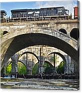 Railroad Bridges Canvas Print