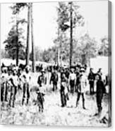 Railroad Camp, 1880s Canvas Print