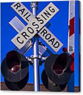 Railroad Crossing Canvas Print