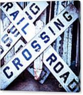 Railroad Crossings Canvas Print