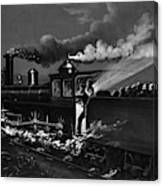 Railroad Danger Signal Canvas Print