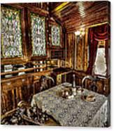 Railroad Dinnertable Canvas Print