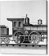 Railroad Engine, C1874 Canvas Print