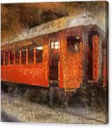 Railroad Gary Flyer Photo Art 02 Canvas Print