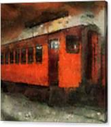 Railroad Gary Flyer Photo Art 03 Canvas Print